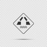 Symbol Opening bridge sign on transparent background stock illustration