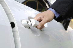 Opening Car Door Royalty Free Stock Photo