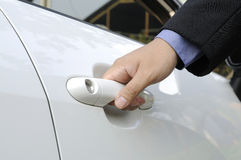 Opening Car Door Royalty Free Stock Photography