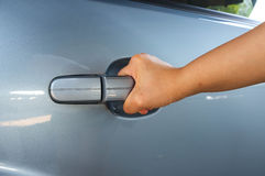 Opening Car Door Royalty Free Stock Photos