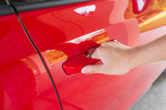 Opening Car Door Royalty Free Stock Image
