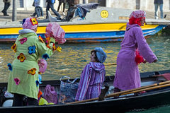 Opening Carnival procession at Venice, Italy 8 Royalty Free Stock Photography