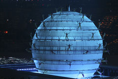 Blue World. The opening ceremonies of the 2008 Beijing Olympics is quite possibly the greatest opening ceremony of the modern era Royalty Free Stock Photo