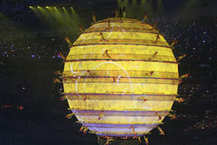 Yellow World. The opening ceremonies of the 2008 Beijing Olympics is quite possibly the greatest opening ceremony of the modern era Royalty Free Stock Image