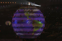 The Earth. The opening ceremonies of the 2008 Beijing Olympics is quite possibly the greatest opening ceremony of the modern era Royalty Free Stock Images