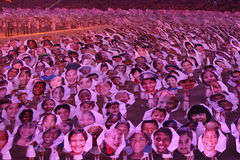 Faces of the World. The opening ceremonies of the 2008 Beijing Olympics is quite possibly the greatest opening ceremony of the modern era Royalty Free Stock Image
