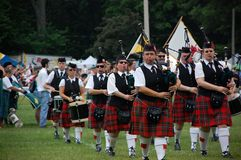 The Opening Ceremonies of The Georgetown Highland Royalty Free Stock Images