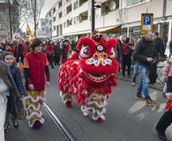 Opening ceremony chinese new year street parade Stock Photography