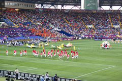 The opening ceremony of Euro 2012 in Kharkiv Stock Photos