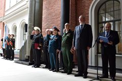 Opening ceremony of the exhibition Military geography: security classification is removed Stock Image
