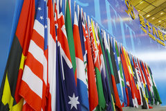 Opening ceremony flag Royalty Free Stock Image