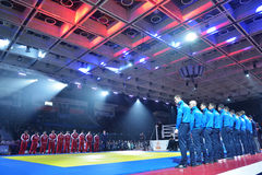 Opening ceremony of the Friendship Cup Royalty Free Stock Images