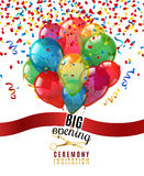 Opening Ceremony Invitation Background Royalty Free Stock Images