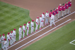Opening ceremony of National League Championship Series Royalty Free Stock Photo