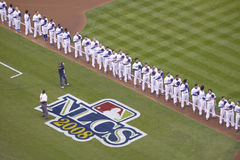Opening ceremony of National League Championship Series Stock Images