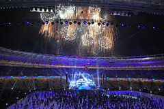 Opening ceremony of Olympic stadium in Kyiv Stock Image
