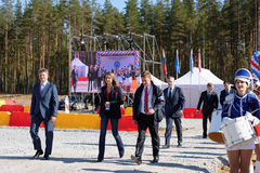 Opening ceremony of professional skills championship of road workers Royalty Free Stock Images