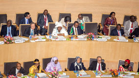 Opening ceremony of the 50th Anniversary of the OAU/AU Royalty Free Stock Image