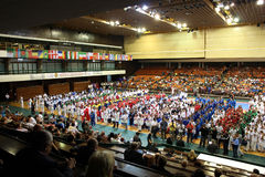 Opening Ceremony - World Karate Championship 2012. TODAY(14.10.) IS THE LAST DAY OF THE 4th WORLD KARATE CHAMPIONSHIPS FOR CHILDREN, CADETS AND JUNIORS IN SERBIA Stock Image