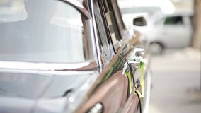 Opening and Closing car door Royalty Free Stock Images