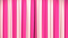 Opening and closing striped curtain stock video