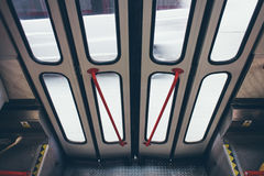 Opening/closing tram doors Stock Image