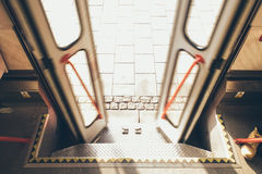 Opening/closing tram doors Royalty Free Stock Images