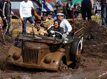 Opening of the competitions in jeep-sprint Royalty Free Stock Photography