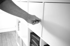 Opening cupboard 1 Royalty Free Stock Photo