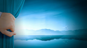 Opening curtain Royalty Free Stock Photo