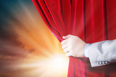 Opening curtain Royalty Free Stock Photography