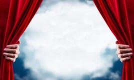 Opening curtain Royalty Free Stock Photos
