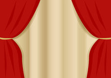 A opening curtain Stock Image