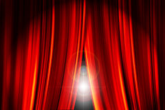 Opening Curtains Stock Photos