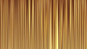 Opening curtains. Yellow glossy curtains. Animation with luma matte