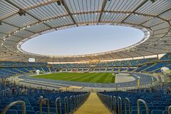 Silesian Stadium Slaski Stadium in Chorzów, Poland. The opening day of the new stadium in Poland. A huge sports facility is located in Chorzow, in the south stock photos