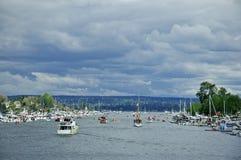 Opening Day Parade. The Opening Day Parade route to Lake Washington Royalty Free Stock Photos