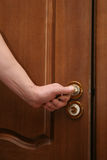 Opening the door. Open the door royalty free stock photo