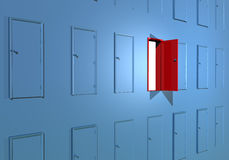 Opening the door key success Royalty Free Stock Photography