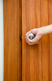 Opening door knob Royalty Free Stock Photos