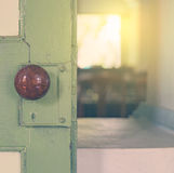 Opening the door to the light copy space Stock Photos