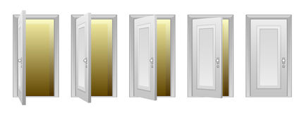 Opening door Royalty Free Stock Photo