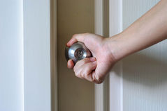 Opening Doorknob Royalty Free Stock Image