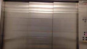 Opening doors in modern elevator Royalty Free Stock Photos