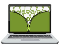 Opening earnings on the Internet Stock Images