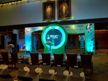 Before opening Ecolighttech asia 2014 Royalty Free Stock Image