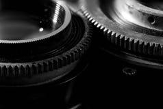 Opening en blind de macro van snelheidsringen op uitstekende camera wordt geschoten die stock afbeelding
