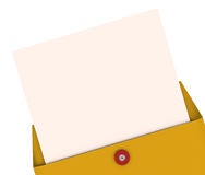 Opening Envelope Letter Top Secret Information Blank Copy Space Stock Photography