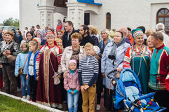 The opening events in honor of the 536 th anniversary of the liberation of Russia from Mongol-Tatar yoke in the Kaluga region. Stock Images