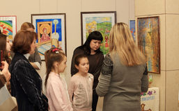 Opening of the exhibition dedicated to the celebration of Easter Stock Photography